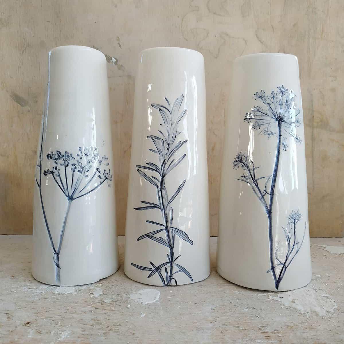 ceramica botanica vasi a cono