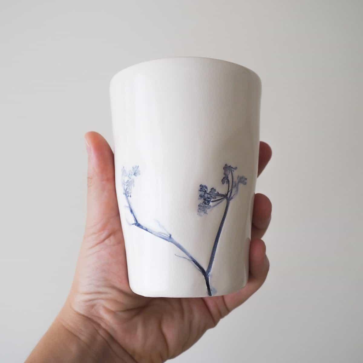 bicchiere ceramica botanica Erbacea LAB