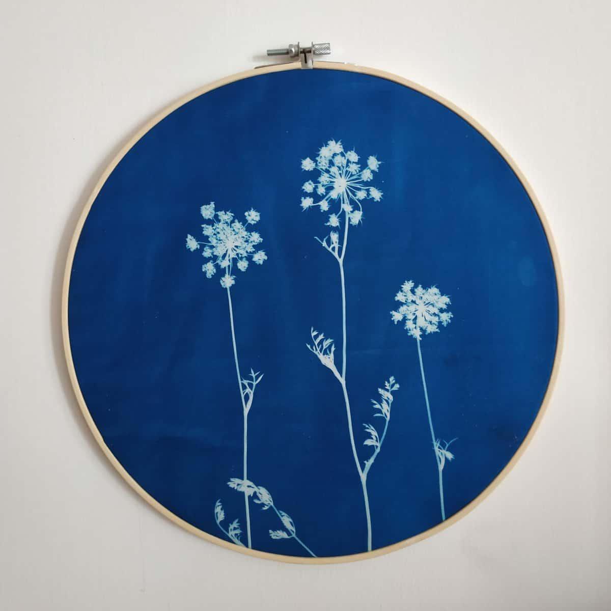 cianotipia botanica decorazione da parete