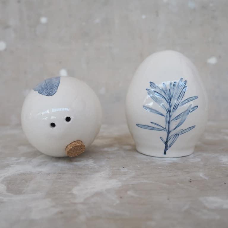 saliera e pepiera sale e pepe ceramica Rimini Erbacea LAB