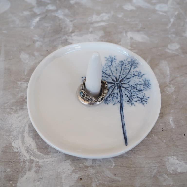 porta anelli portagioie ceramica RImini Erbacea LAB
