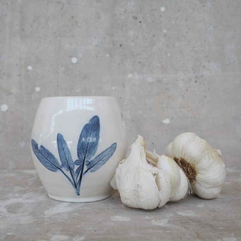 porta aglio ceramica Rimini Erbacea LAB