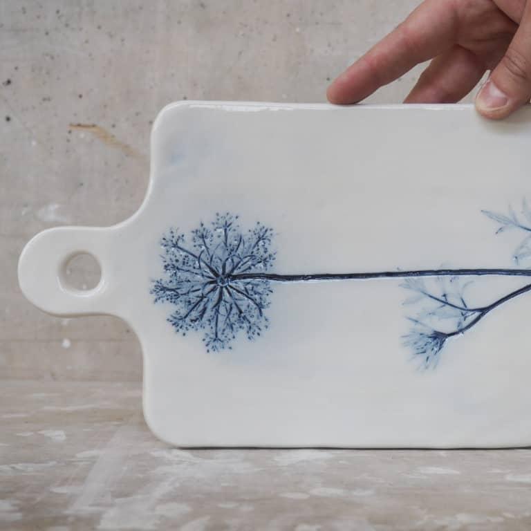 tagliere ceramica Rimini Erbacea LAB