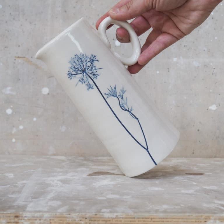 brocca in ceramica Erbacea LAB