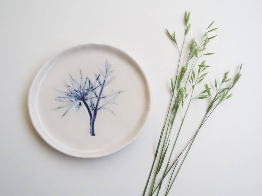 Piattini ceramica carota selvatica Erbacea LAB