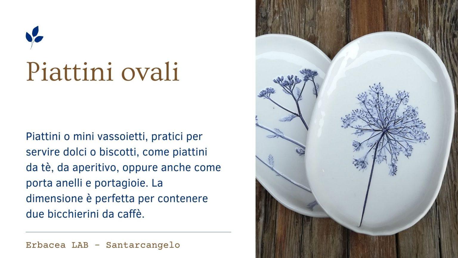 Bomboniere in Ceramica - piattini ovali