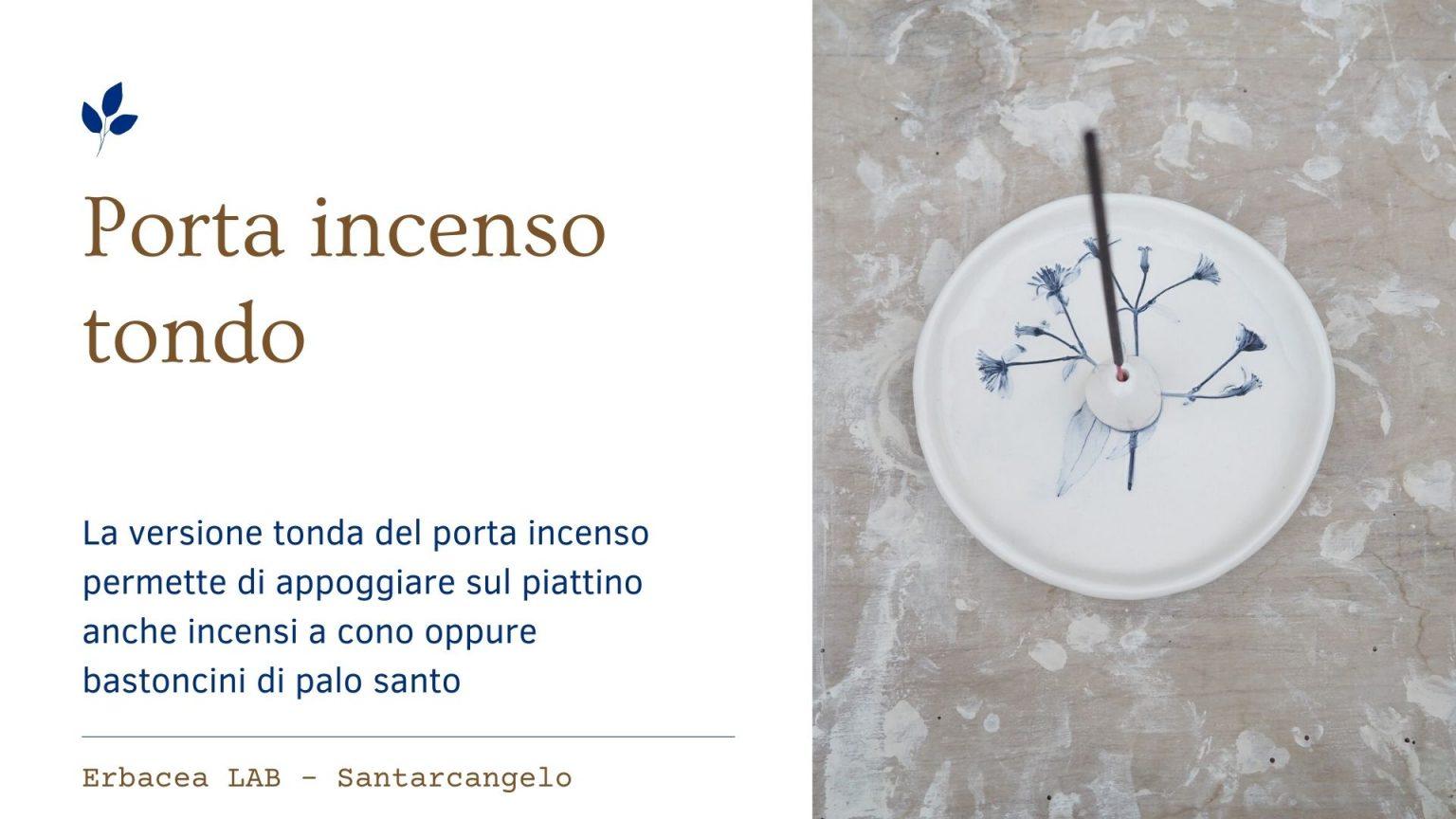 Bomboniere in Ceramica - porta incenso tondo