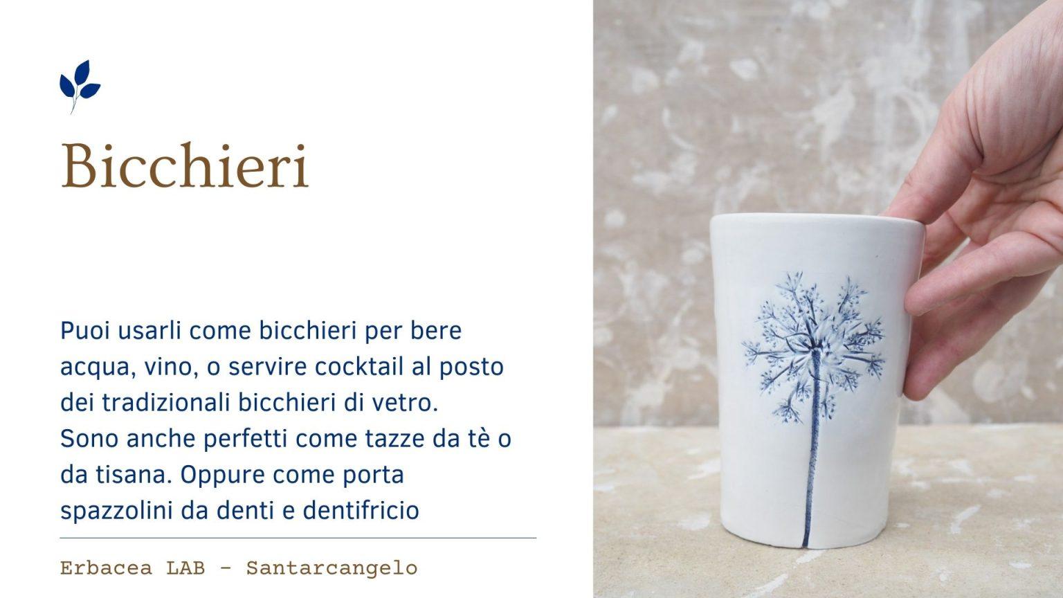Bomboniere in Ceramica - bicchieri